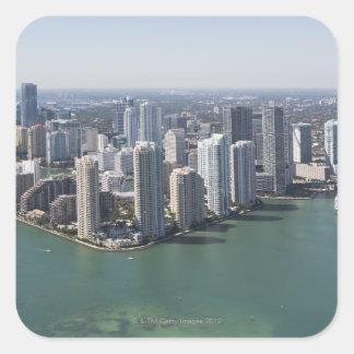 Miami Skyline 2 Square Sticker