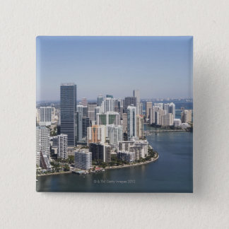 Miami Skyline 3 15 Cm Square Badge