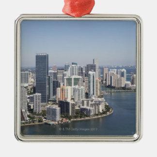 Miami Skyline 3 Christmas Ornament