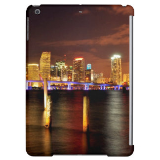 Miami skyline at night, Florida