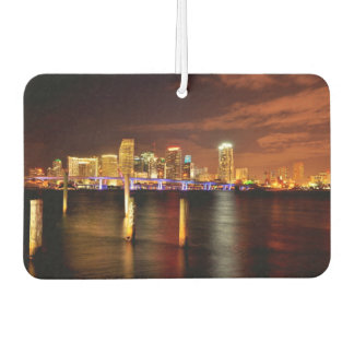 Miami skyline at night, Florida Car Air Freshener