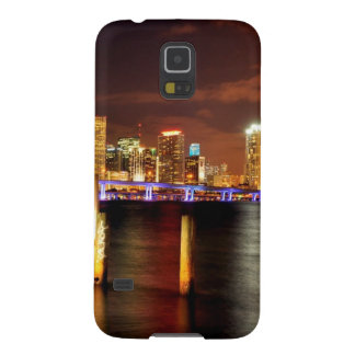 Miami skyline at night, Florida Case For Galaxy S5