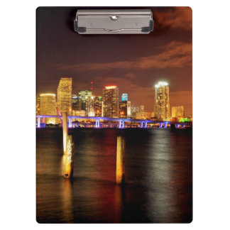 Miami skyline at night, Florida Clipboard