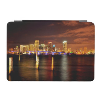 Miami skyline at night, Florida iPad Mini Cover