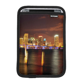 Miami skyline at night, Florida iPad Mini Sleeve