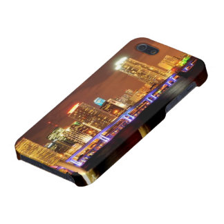 Miami skyline at night, Florida iPhone 5/5S Covers
