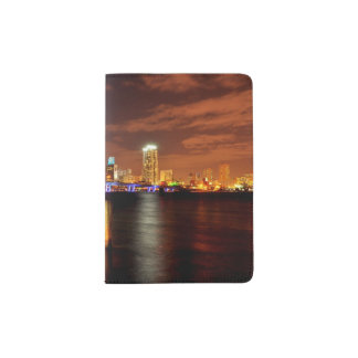 Miami skyline at night, Florida Passport Holder