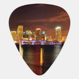 Miami skyline at night, Florida Plectrum