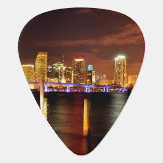 Miami skyline at night, Florida Plectrum