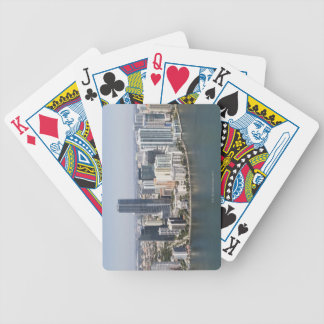 Miami Skyline Bicycle Playing Cards