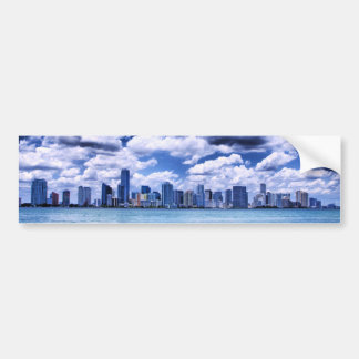 Miami skyline - Bumper Sticker