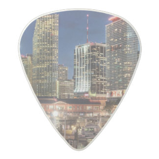 Miami skyline city in Florida Acetal Guitar Pick