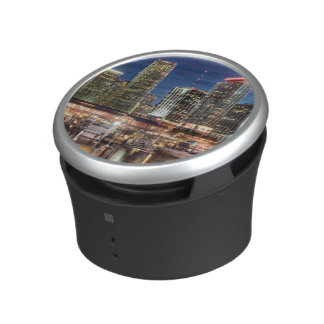 Miami skyline city in Florida Bluetooth Speaker