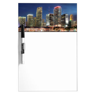 Miami skyline city in Florida Dry Erase Board