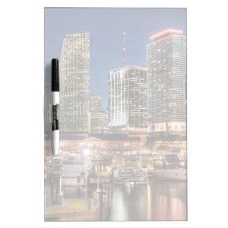 Miami skyline city in Florida Dry Erase Board