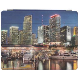 Miami skyline city in Florida iPad Cover