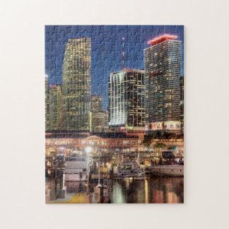 Miami skyline city in Florida Jigsaw Puzzle