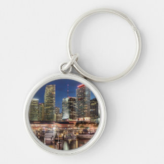 Miami skyline city in Florida Key Ring