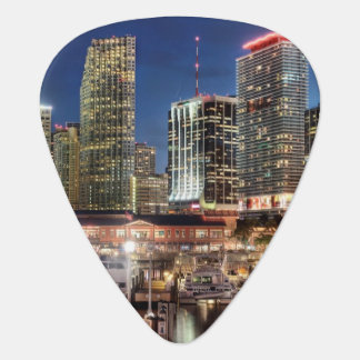 Miami skyline city in Florida Plectrum