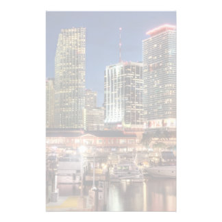 Miami skyline city in Florida Stationery