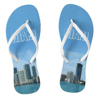 Miami Skyline Flip Flops