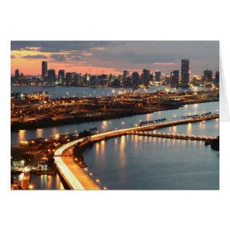 Miami Skyline Greeting Card