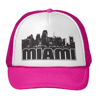 Miami Skyline Trucker Hats