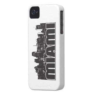 Miami Skyline iPhone 4 Cover