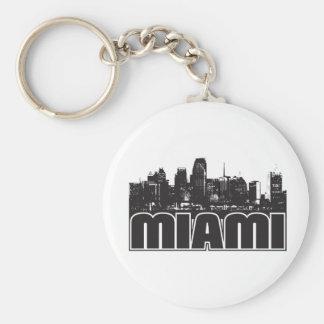 Miami Skyline Key Ring