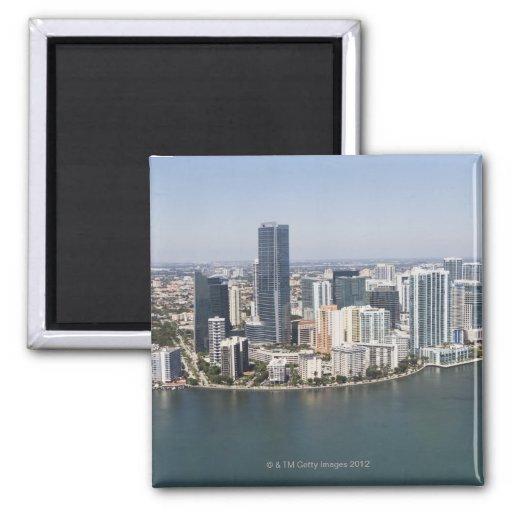 Miami Skyline Refrigerator Magnets