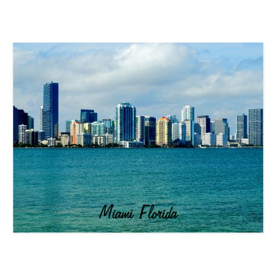Miami Skyline Post Card