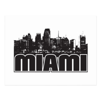Miami Skyline Postcard