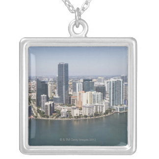 Miami Skyline Silver Plated Necklace