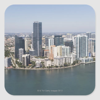 Miami Skyline Square Sticker