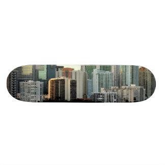 Miami skyscrapers against wide clear sky 21.3 cm mini skateboard deck