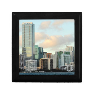 Miami skyscrapers against wide clear sky gift box