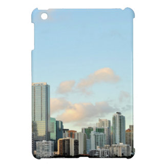 Miami skyscrapers against wide clear sky iPad mini covers