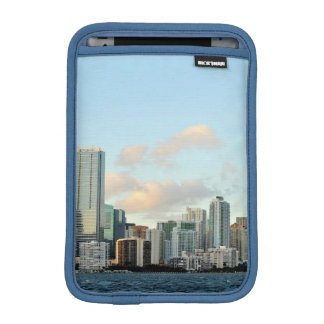 Miami skyscrapers against wide clear sky iPad mini sleeve
