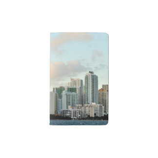 Miami skyscrapers against wide clear sky pocket moleskine notebook