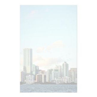 Miami skyscrapers against wide clear sky stationery
