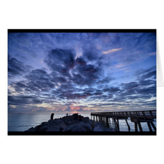 Miami South Point Sunrise Card