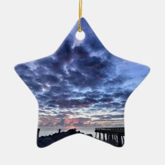Miami South Point Sunrise Ceramic Star Decoration