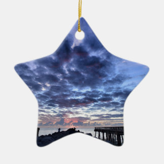 Miami South Point Sunrise Christmas Ornament