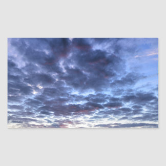 Miami South Point Sunrise Rectangular Sticker
