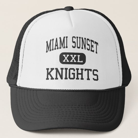Miami Sunset - Knights - High - Miami Florida Cap