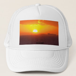 MIAMI SUNSET TRUCKER HAT