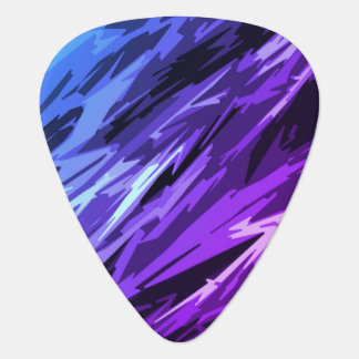 Miami Teal Black Trendy Unique Cool Chic Abstract Guitar Pick