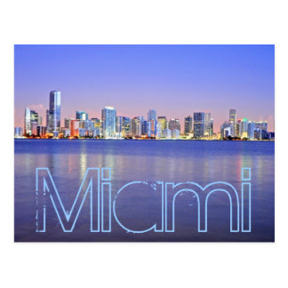 Miami, the Magic City at dawn Postcard