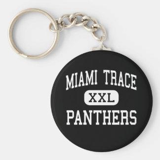 Miami Trace - Panthers - Washington Court House Basic Round Button Key Ring