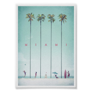 Miami Vintage Travel Poster